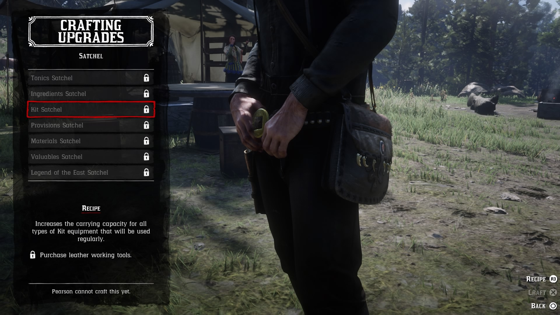 Red Dead Redemption 2 Satchel Crafting Guide