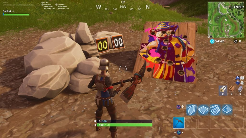 challenge 2 get a score of 10 or more on different carnival clown boards fortnite - fortnite carnival boards