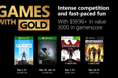 Xbox Games with Gold December 2018