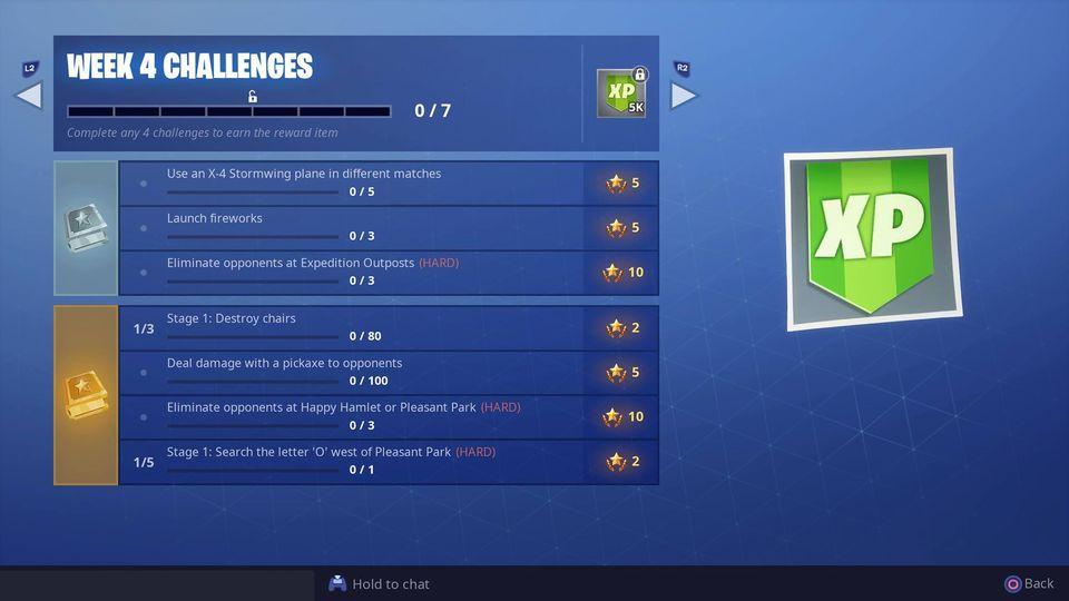 Fortnite Season 7 Week 4 Challenges