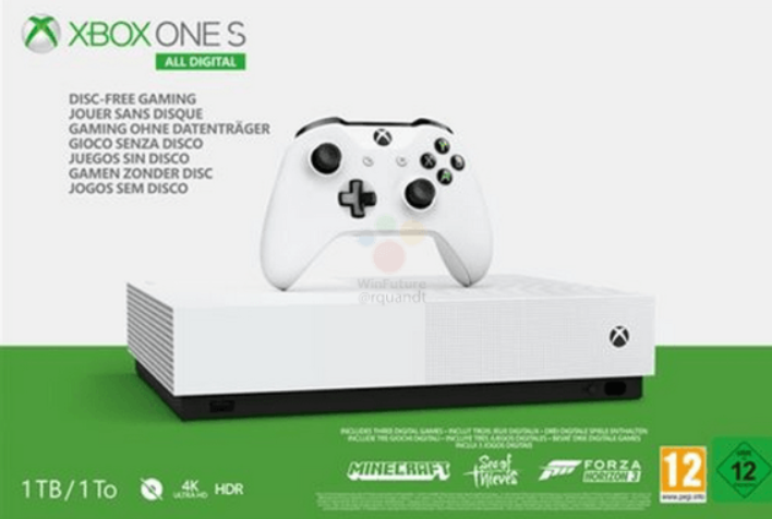All-Digital Xbox One S Price